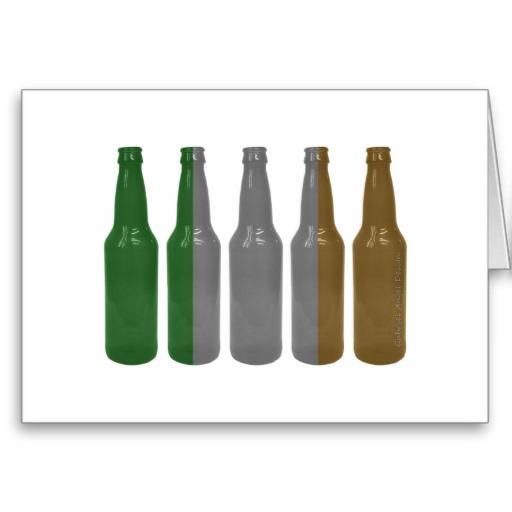 Irish Beer Bottles Greeting Card