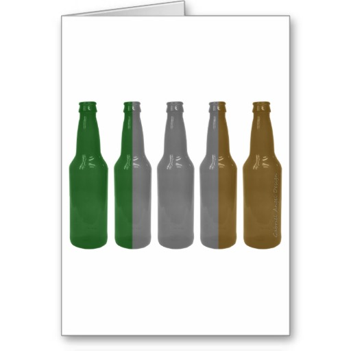 Irish Beer Bottles Greeting Card