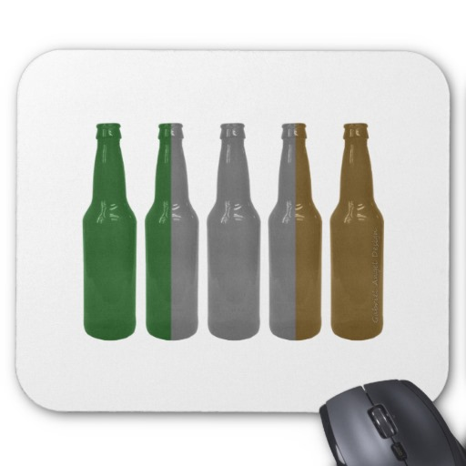 Irish Beer Bottles Mouse Pad