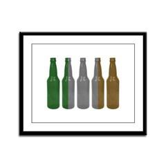 Irish Beers Framed Panel Print