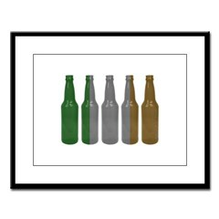 Irish Beers Large Framed Print