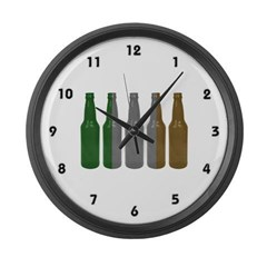 Irish Beers Large Wall Clock