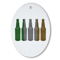 Irish Beers Ornament (Oval)