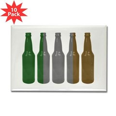 Irish Beers Rectangle Magnet (10 pack)