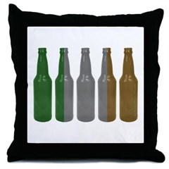 Irish Beers Throw Pillow