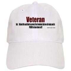 Veteran Definition  Baseball Cap