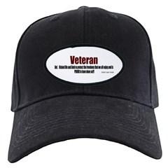 Veteran Definition Baseball Hat