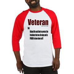 Veteran Definition Baseball Jersey T-Shirt