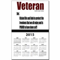 Veteran Definition Calendar Print