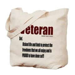 Veteran Definition Canvas Tote Bag
