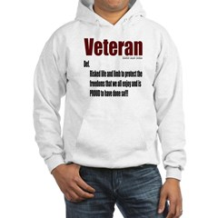 Veteran Definition Hooded Sweatshirt