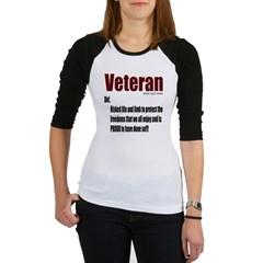 Veteran Definition Junior Raglan T-shirt