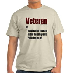 Veteran Definition Light T-Shirt