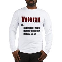 Veteran Definition Long Sleeve T-Shirt