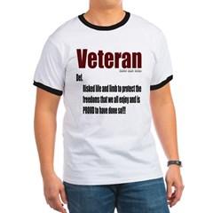 Veteran Definition Ringer T-Shirt