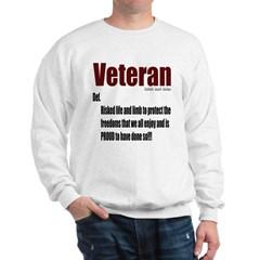 Veteran Definition Sweatshirt