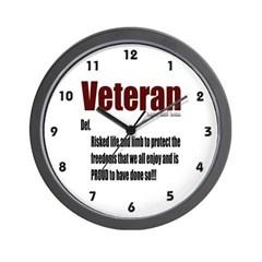 Veteran Definition Wall Clock