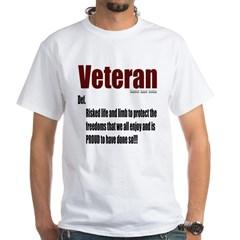 Veteran Definition White Shirt