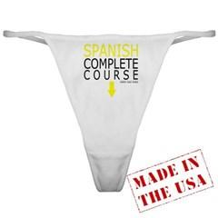 Spanish Complete Course Ladies Thong Underwear