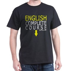 English Complete Course Dark T-shirt
