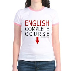 English Complete Course Junior Ringer T-Shirt