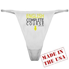 English Complete Course Ladies Thong Underwear