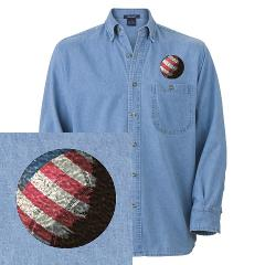 USA Volleyball Denim Shirt