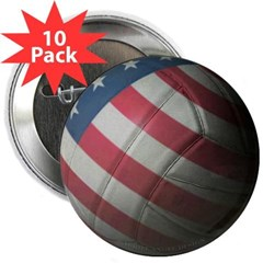 "USA Volleyball 2.25"" Button (10 pack)"