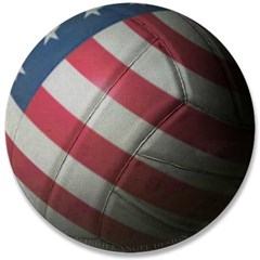 "USA Volleyball 3.5"" Button"