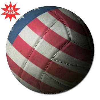 "USA Volleyball 3"" Lapel Sticker (48 pk)"