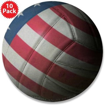 USA Volleyball Button (10 pack)