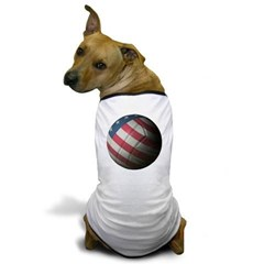 USA Volleyball Dog T-Shirt