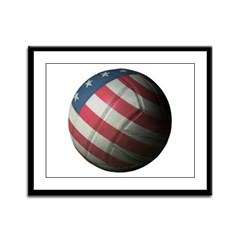 USA Volleyball Framed Panel Print