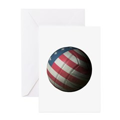 USA Volleyball Greeting Card