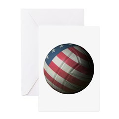 USA Volleyball Greeting Cards (Pk of 10)