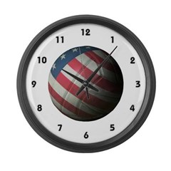 USA Volleyball Large Wall Clock