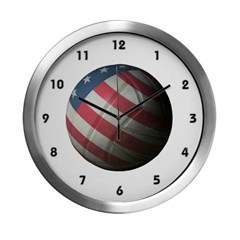 USA Volleyball Modern Wall Clock