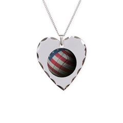 USA Volleyball Necklace