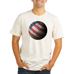 USA Volleyball Organic Fitted T-Shirt