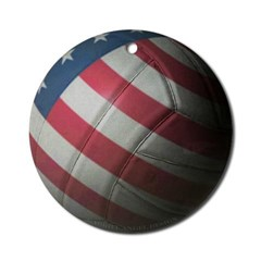 USA Volleyball Ornament (Round)