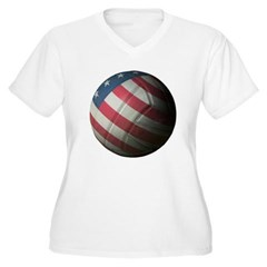 USA Volleyball Plus Size V-Neck T-Shirt