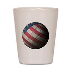USA Volleyball Shot Glass