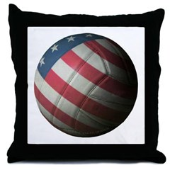 USA Volleyball Throw Pillow