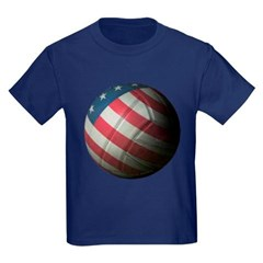 USA Volleyball Toddler Dark T