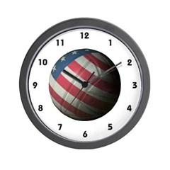 USA Volleyball Wall Clock