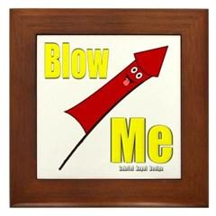 Blow Me Framed Tile