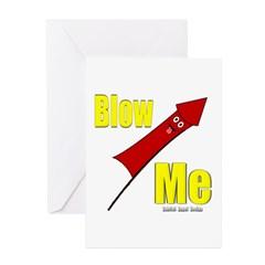 Blow Me Greeting Card