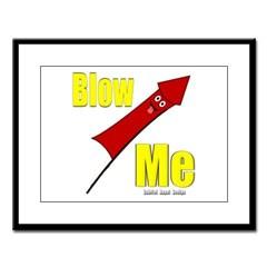 Blow Me Large Framed Print