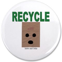 "Recycle Paper 3.5"" Button"