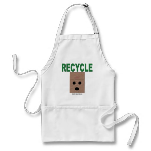 Recycle Paper Bags Adult Apron